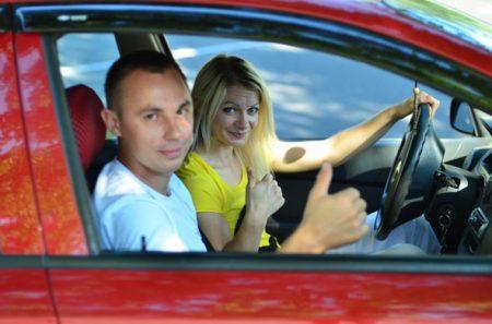 Урок вождение а автошколе